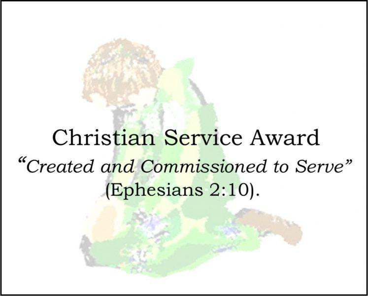 Christian Service Award
